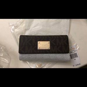 Michael Kors checkbook wallet NEW with tags
